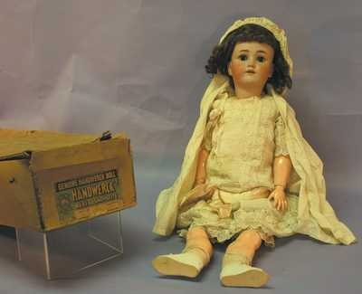"7515: Antique Doll -  28"" Germany HEINRICH  HANDWERCK"