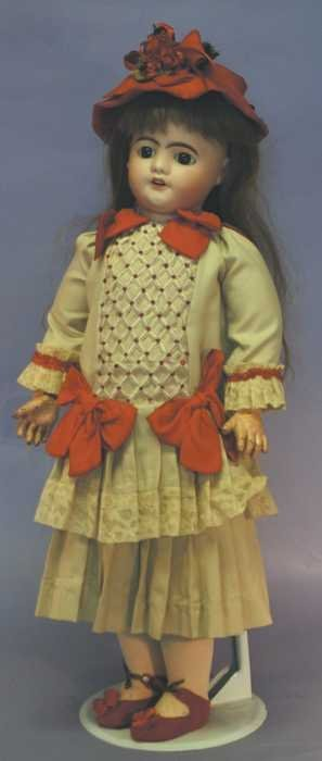 "7517:  Antique French Doll - 26 1/2"" DEPOSE S.F.B.J."