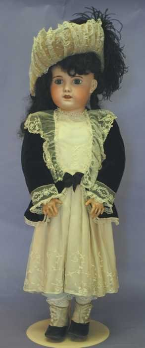 "7518: Antique French Doll -  31""  ""14"" (Jumeau type)"