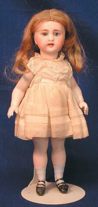 "7527: Antique All Bisque Doll - 8"" Unmarked Peg Strung"
