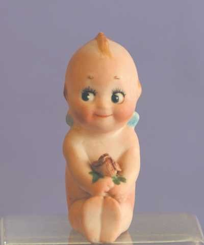 "7528: Antique All Bisque - 2"" Action Kewpie Doll"