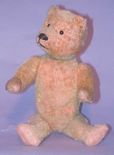"7532: Schuco Bear - 14"" Gold Mohair Yes-No"