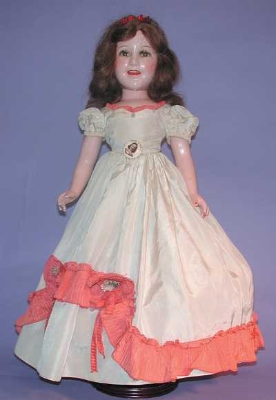 "7543: Vintage Compo Doll - 25"" Ideal Deanna Durbin"