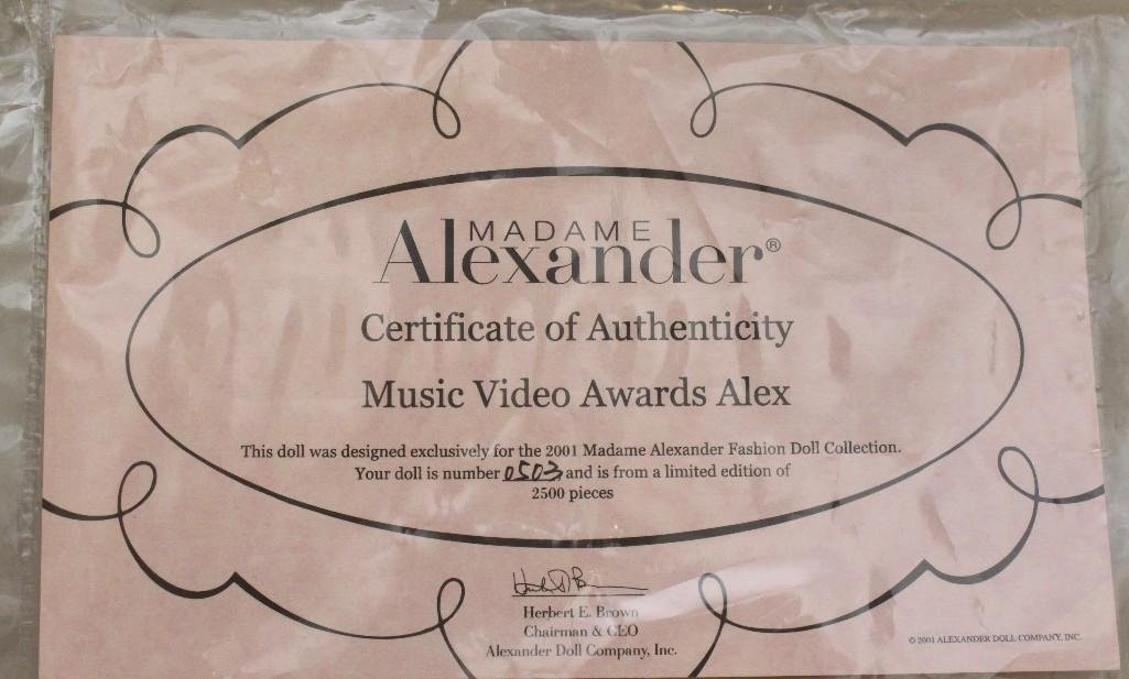 "PAIR OF 15"" MIB NRFB  MADAME ALEXANDER ""ALEX"" DOLLS: - 5"