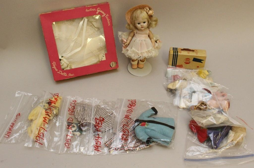 """VOGUE FAMILY LOT: 8"""" HARD PLASTIC GINNY DOLL, TAGGED"""