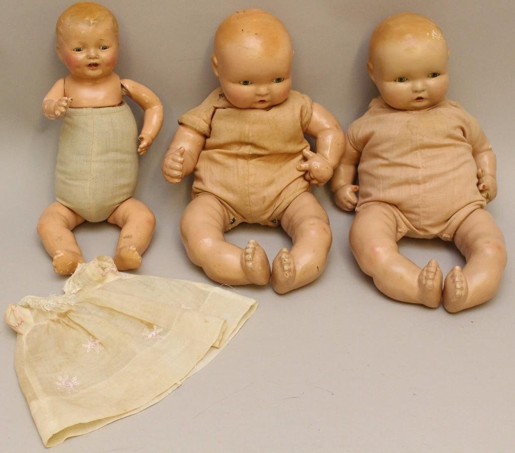LOT OF (3) EFFANBEE COMPOSITION BABY DOLLS: (2)