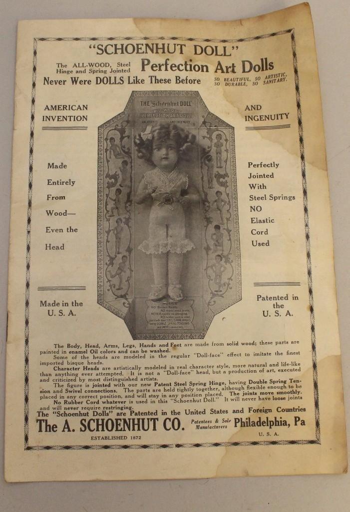 "SCHOENHUT LOT: 14/107 INFANT DOLL IN ORIGINAL BOX, 16"" - 10"
