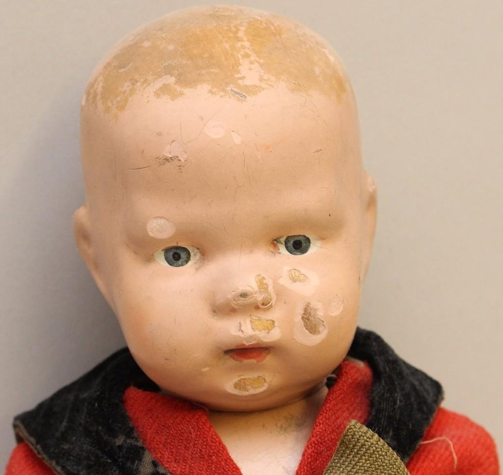"SCHOENHUT LOT: 14/107 INFANT DOLL IN ORIGINAL BOX, 16"" - 8"