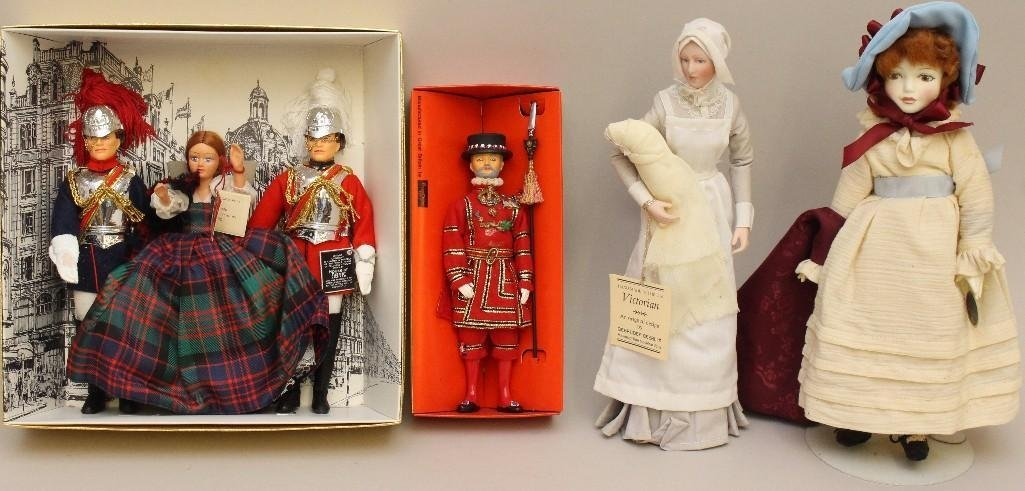 LOT OF DOLLS MADE IN ENGLAND: NISBET, ROYAL DOULTON,