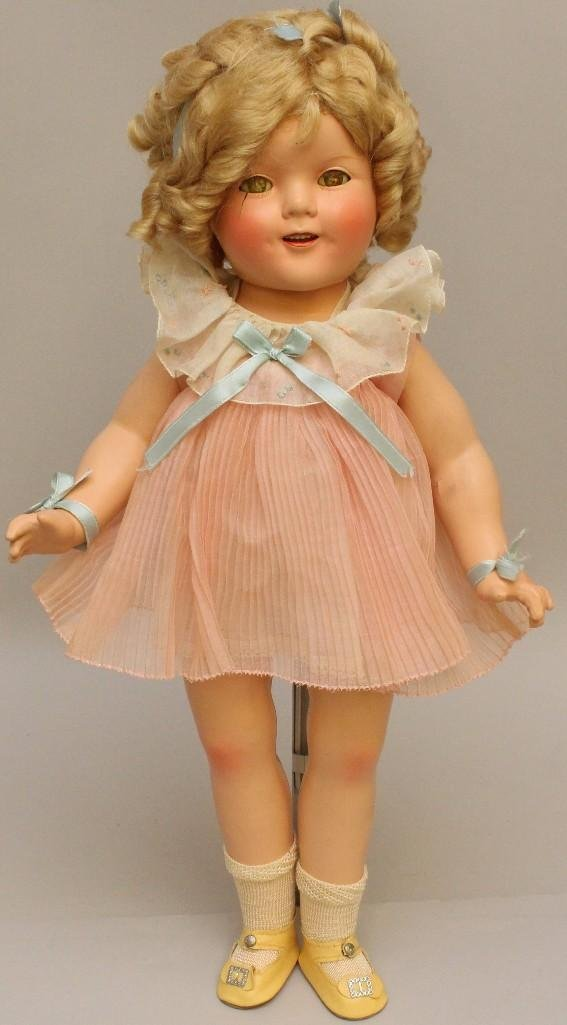 """18"""" 1930's COMPOSITION """"SHIRLEY TEMPLE"""" DOLL IN ORGINAL"""