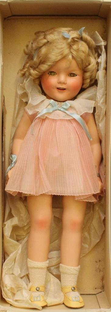 """18"""" 1930's COMPOSITION """"SHIRLEY TEMPLE"""" DOLL IN ORGINAL - 2"""