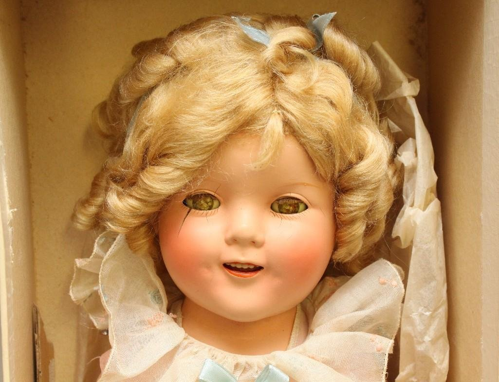 """18"""" 1930's COMPOSITION """"SHIRLEY TEMPLE"""" DOLL IN ORGINAL - 3"""