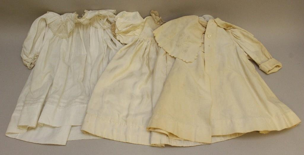 LOT OF CHILDREN'S ANTIQUE CLOTHING: (2) COATS, DRESS.