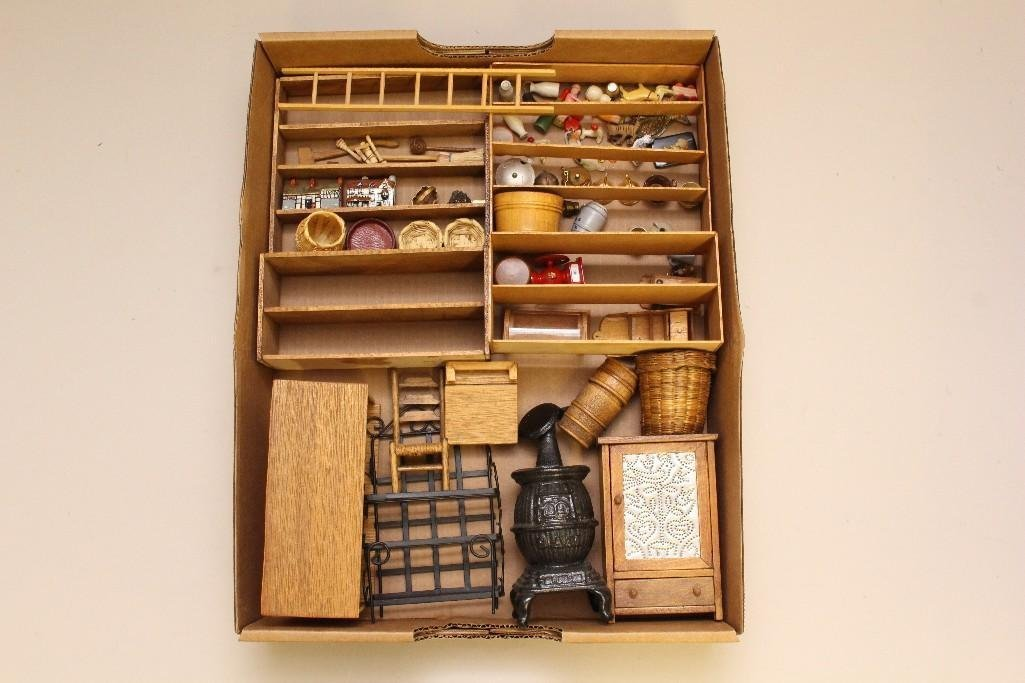 LARGE LOT OF VINTAGE MINIATURES FROM A DRY GOODS STORE. - 2