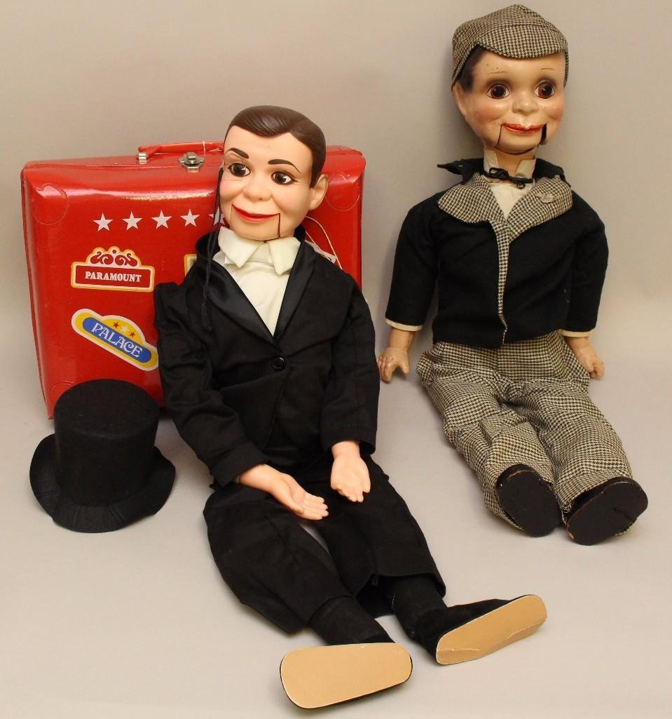 PAIR OF ALL ORIGINAL VENTRILOQUIST DOLLS: 31""