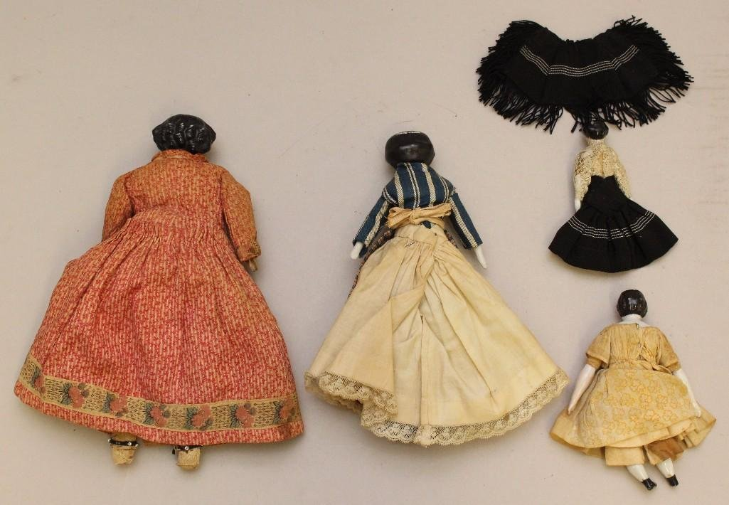"LOT OF (4) ANTIQUE CHINA DOLLS: 4""- 9 1/2"". - 3"
