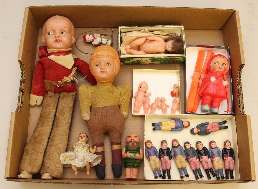 LOT OF CELLULOID NOVELTY DOLLS, JAPAN.