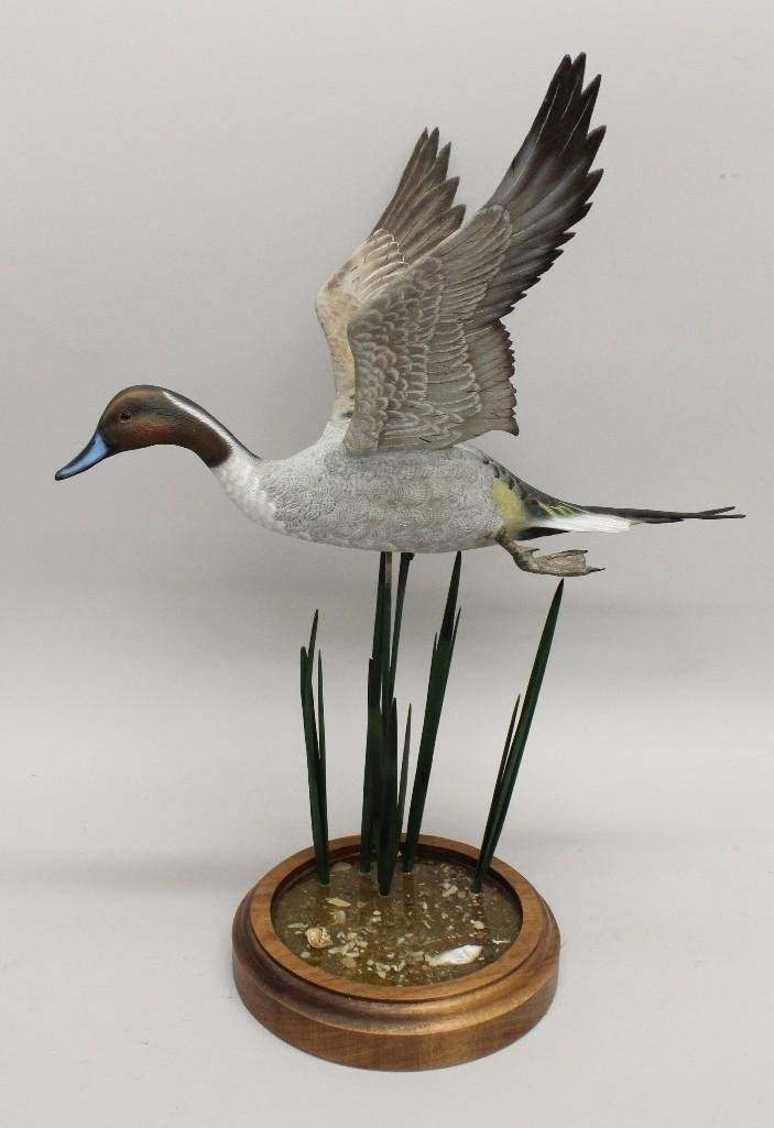 Flying Drake Pintail on Marsh Scene Base- Frank