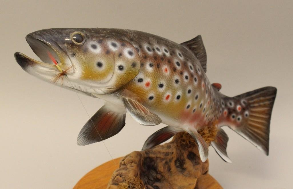 Brown Trout Carving - 2