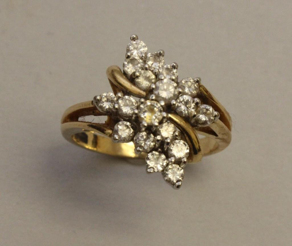 Gold Ring with Diamonds - 2