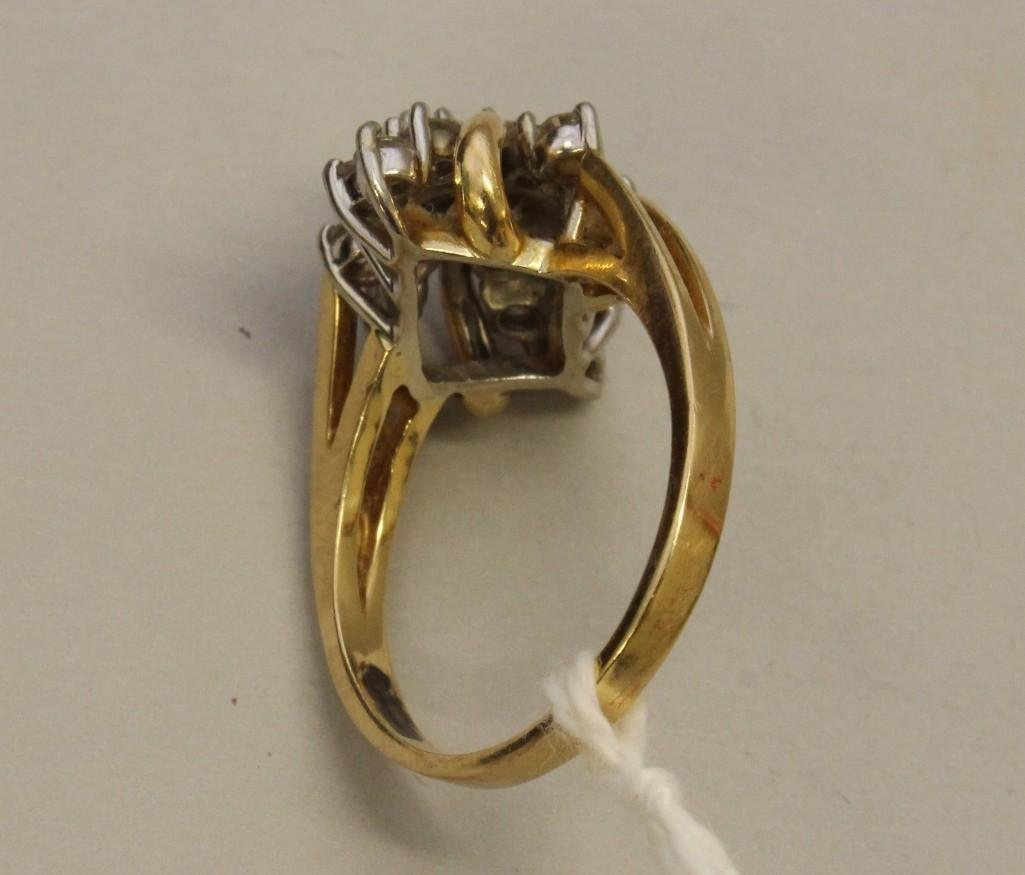 Gold Ring with Diamonds - 3