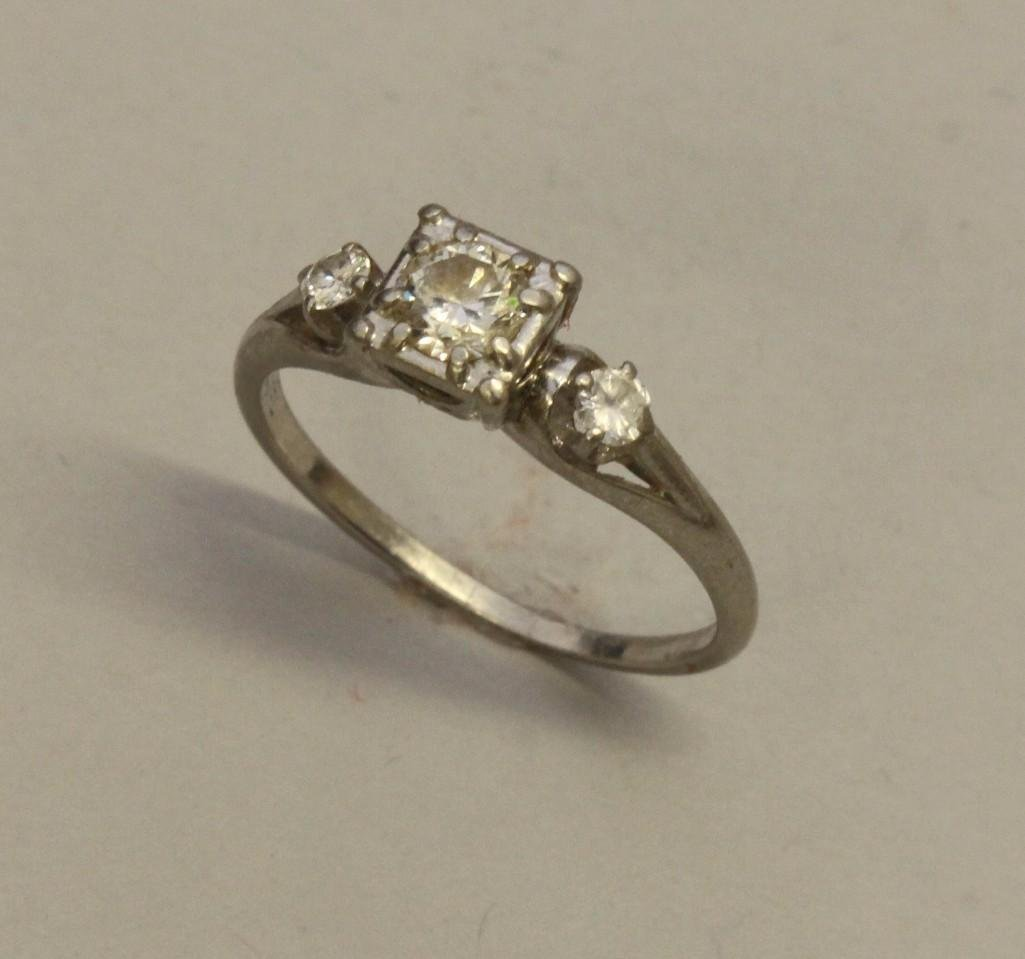 Platinum Ring with Diamonds - 2