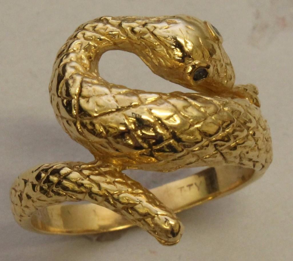 Gold Snake Ring - 2
