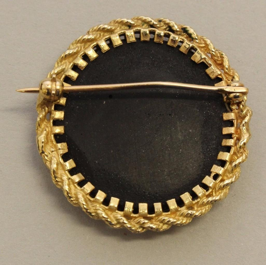 Gold Brooch with Pietra Dura - 2