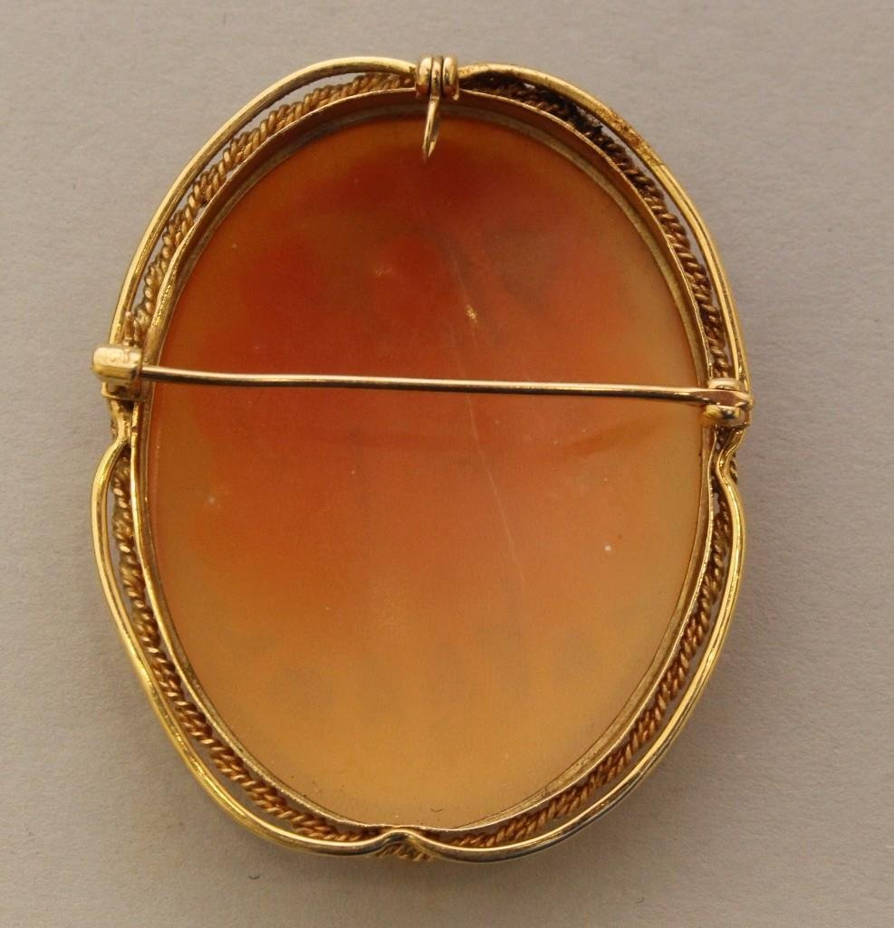Gold Pin/Pendant with Cameo - 2