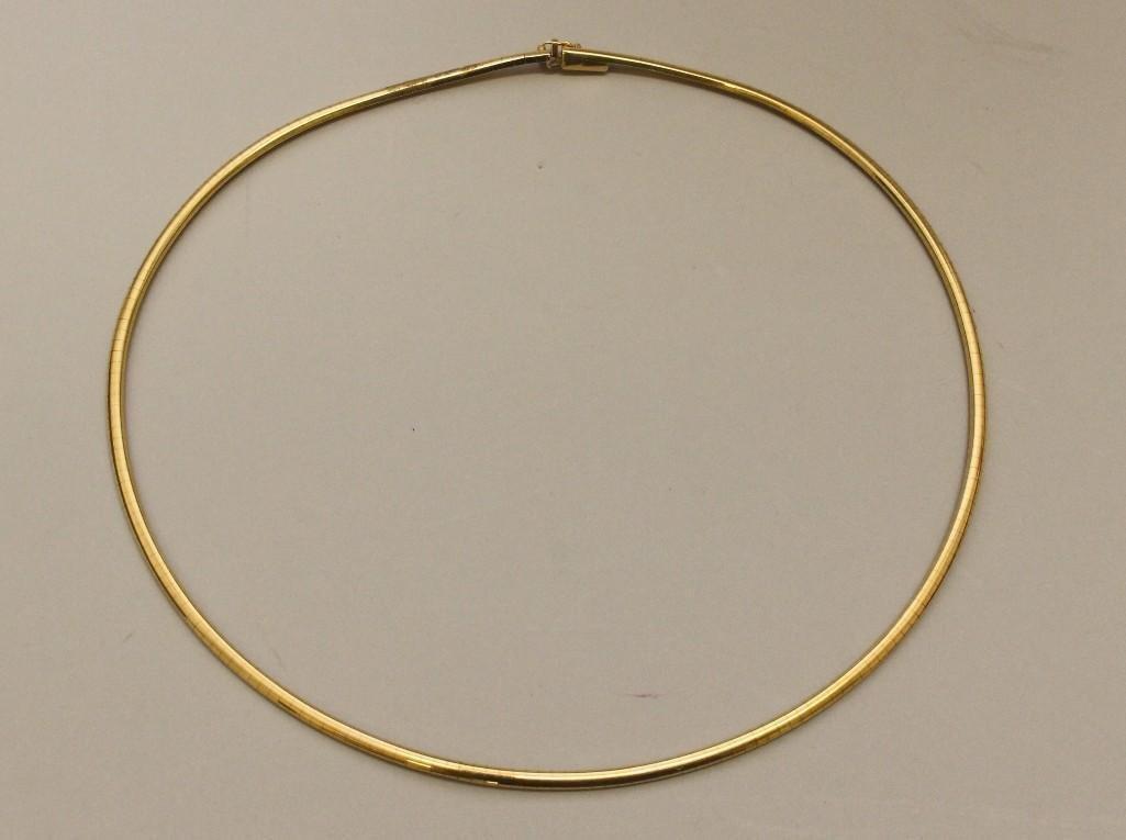 Gold Omega Necklace