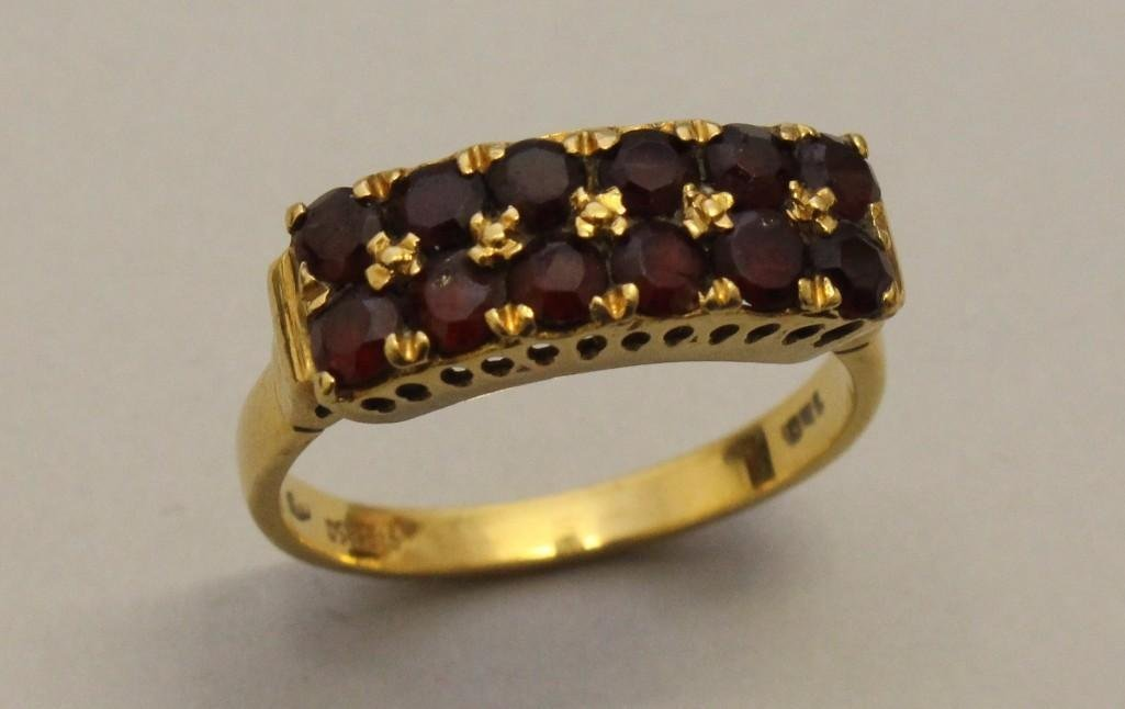 Gold Ring with Garnets