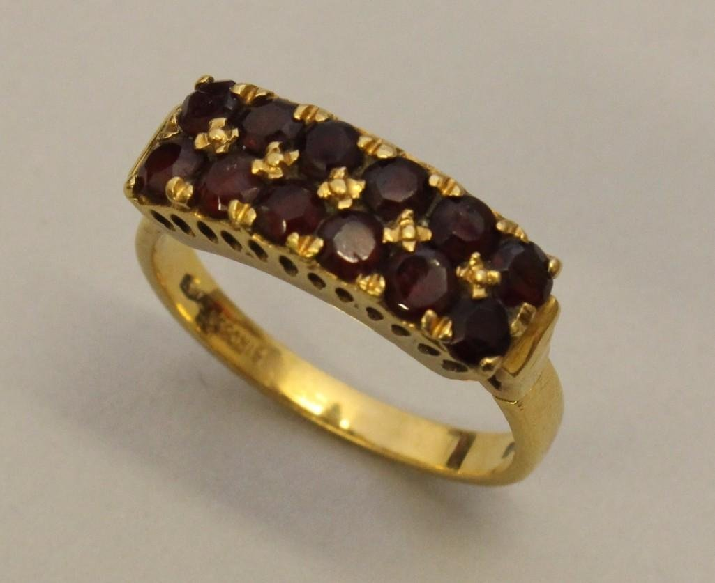 Gold Ring with Garnets - 2