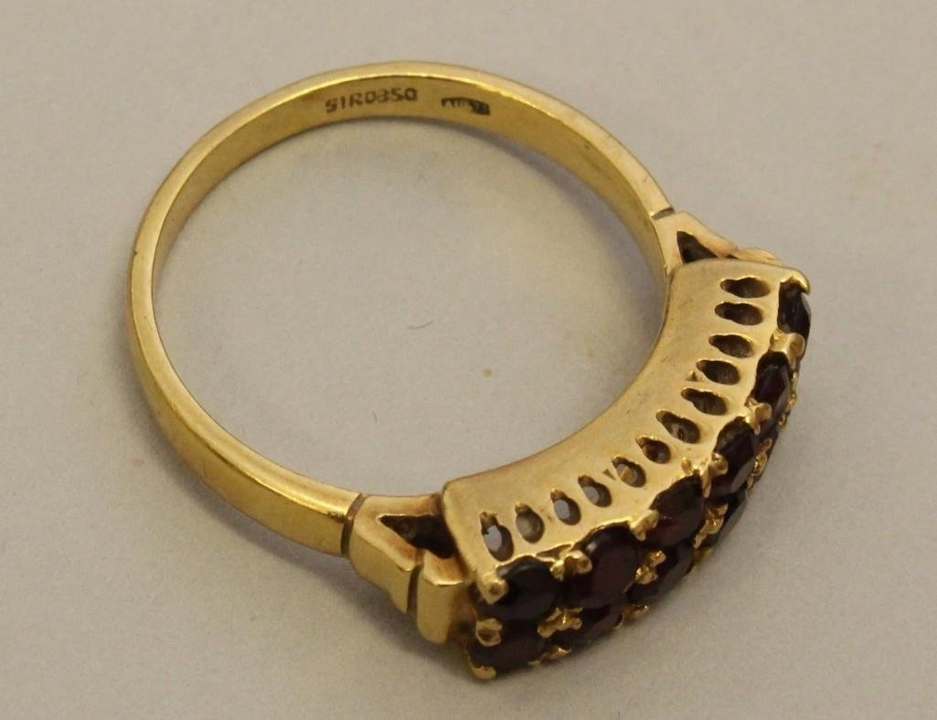 Gold Ring with Garnets - 3