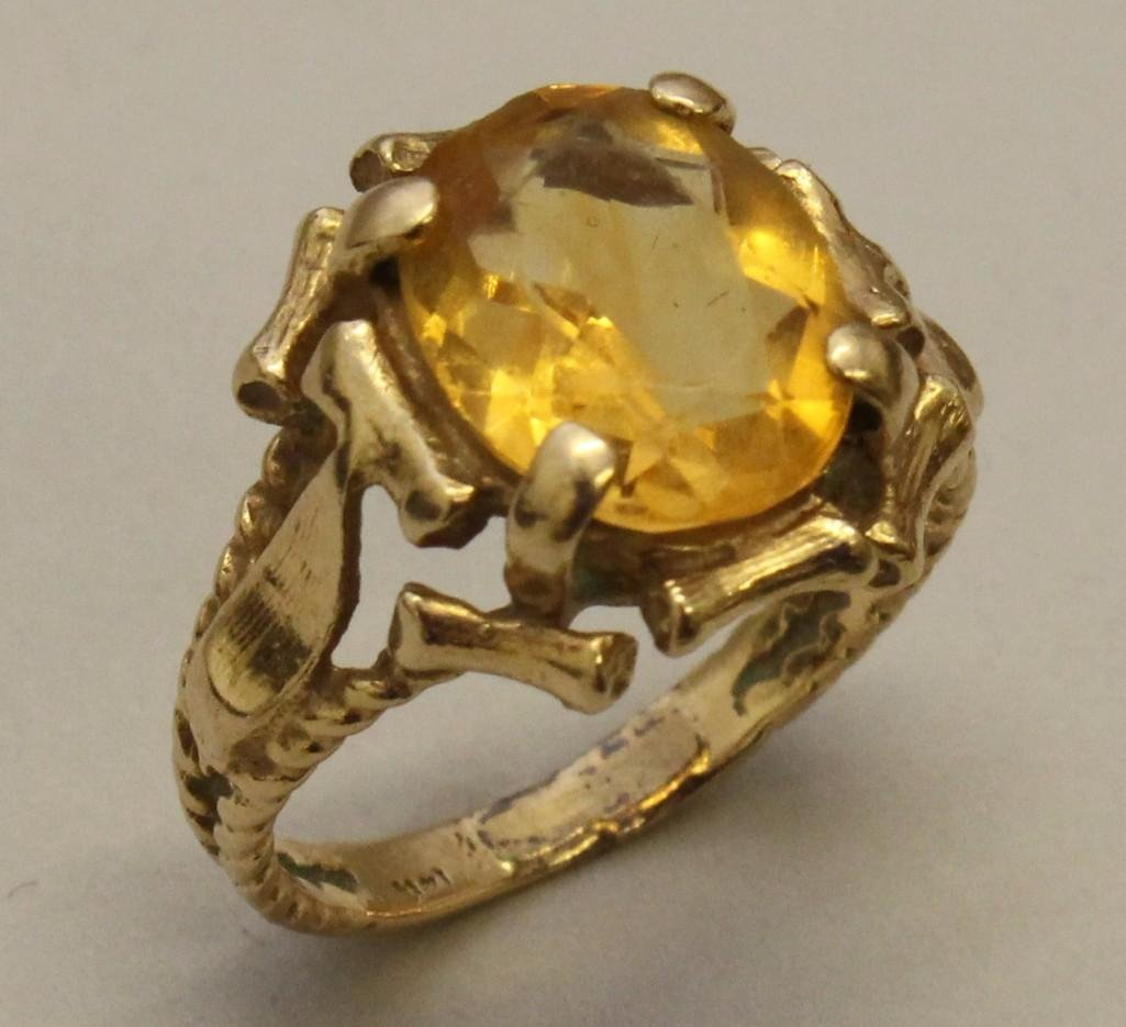 Gold Ring with Citrine - 2