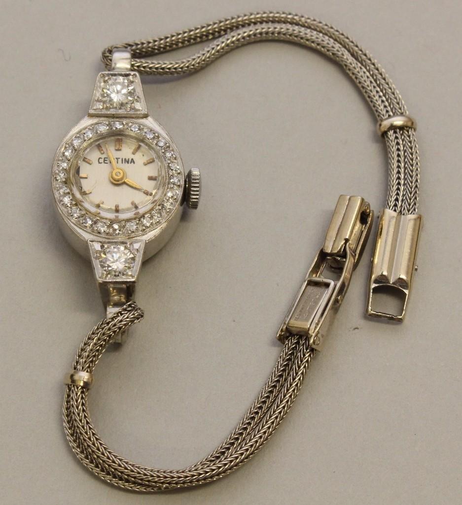 Ladies Platinum and Gold Wrist Watch with Diamonds - 3