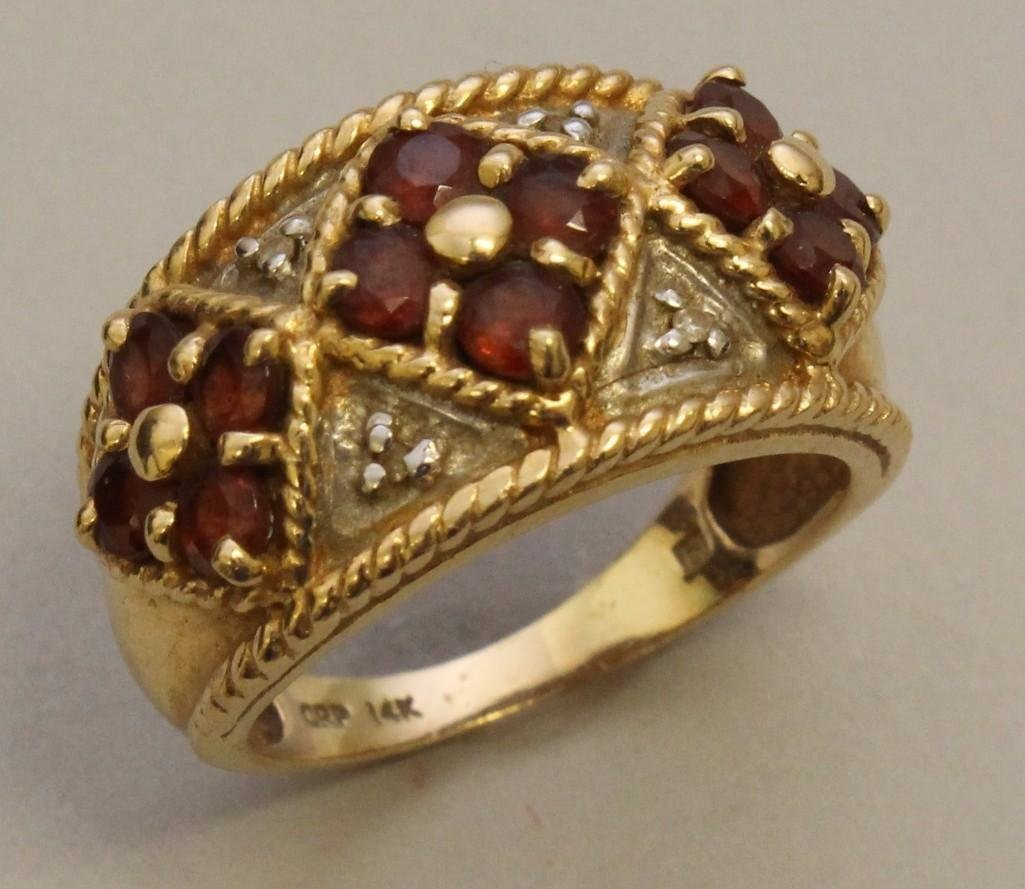 Gold Ring with Rubies and Diamonds - 2