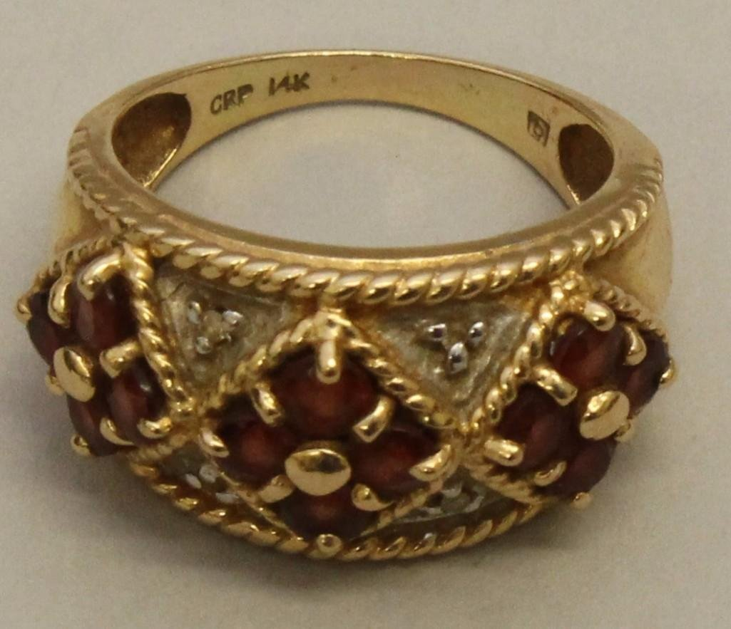 Gold Ring with Rubies and Diamonds - 4