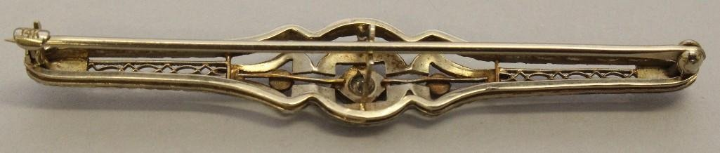 Gold Pin with Diamond - 2