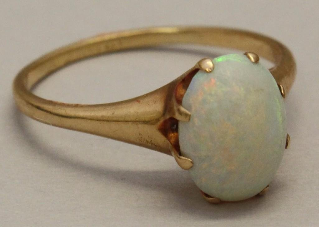 Gold Ring with Opal - 2