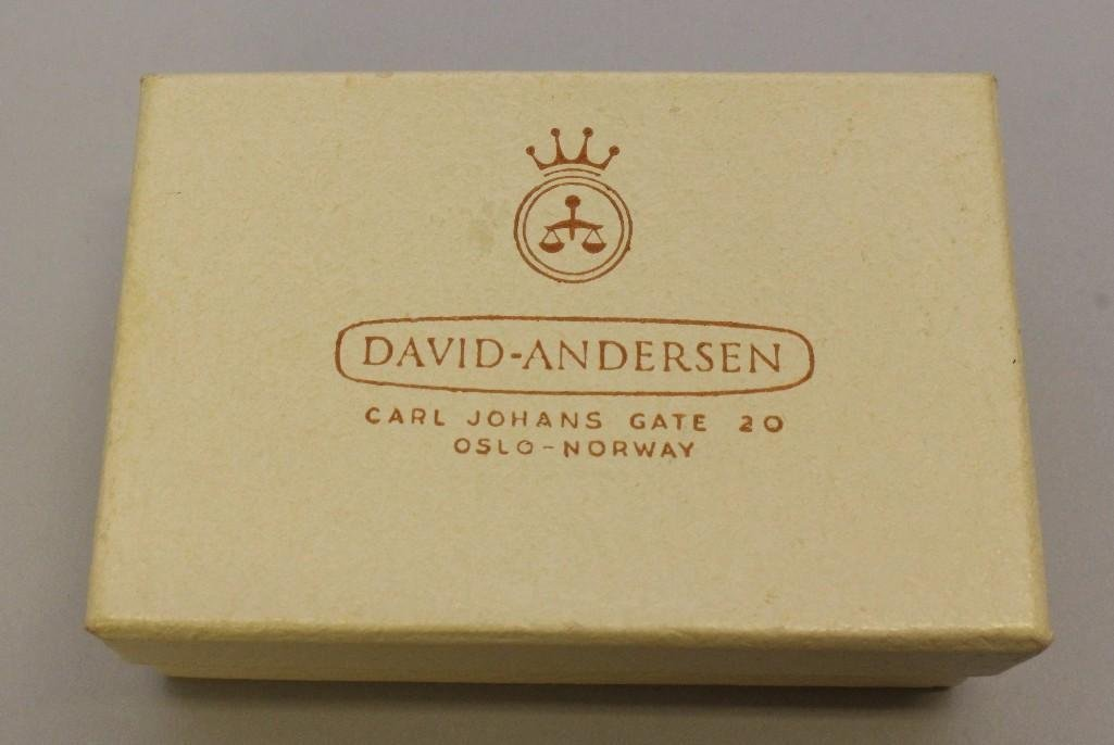 Sterling Silver David Andersen Norway Tie Bar and - 4