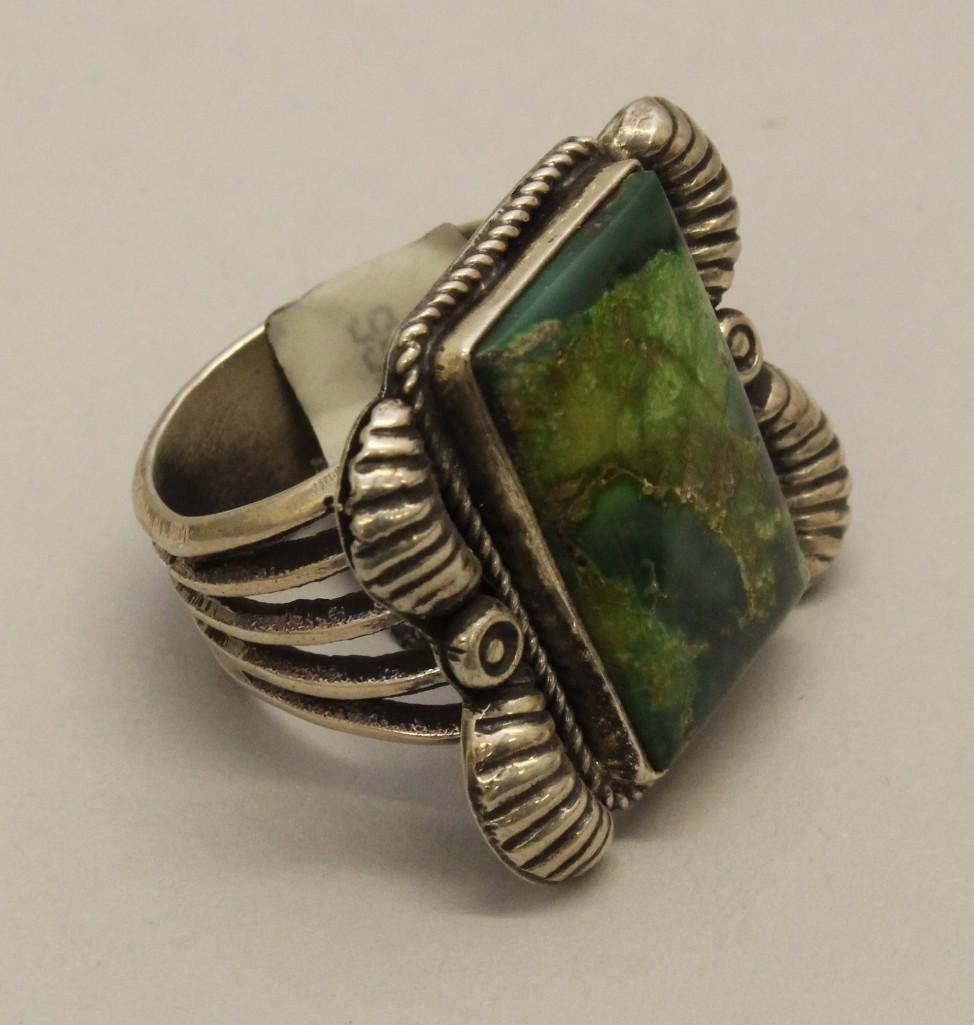 Silver Ring with Turquoise - 2