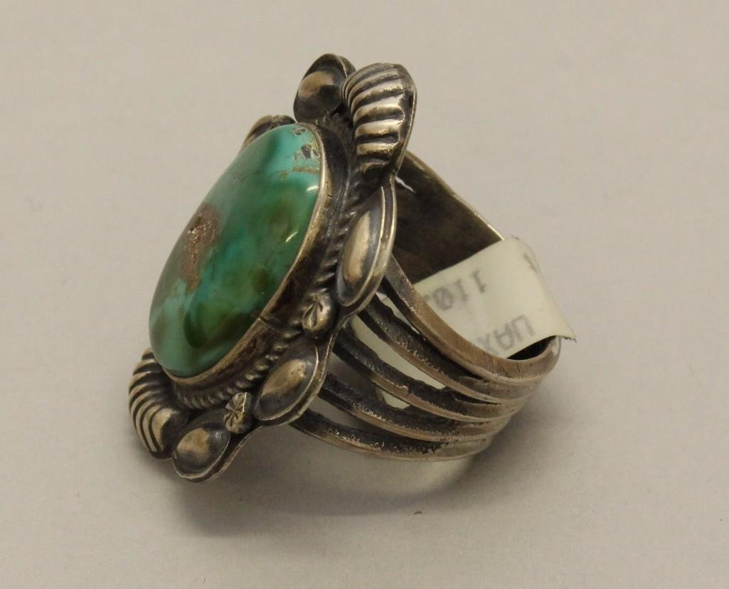 Silver Ring with Turquoise - 3
