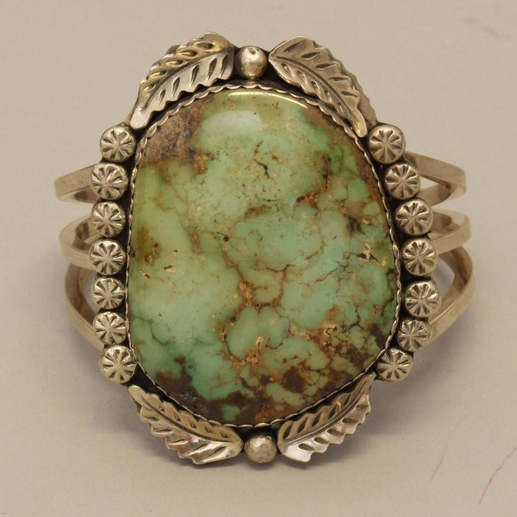 Sterling Silver Bracelet with Turquoise