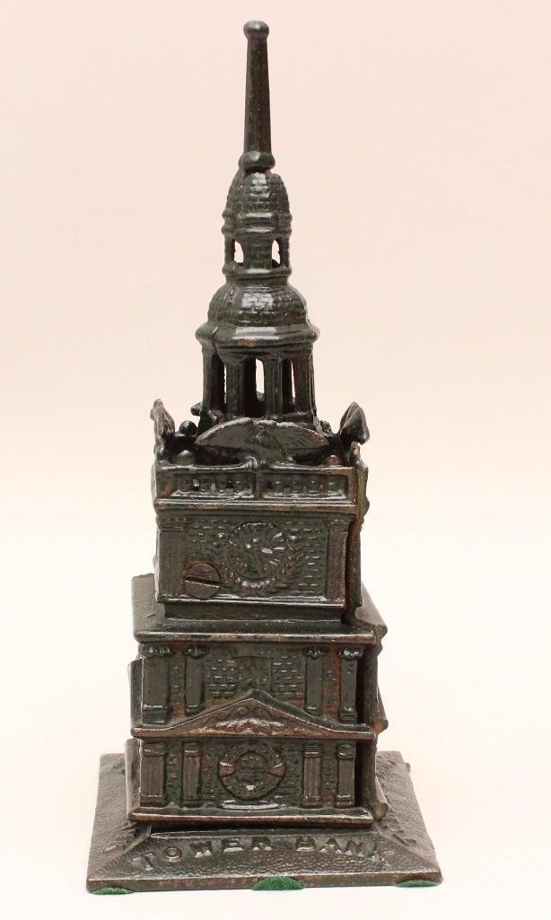 Cast Iron Still Bank Tower