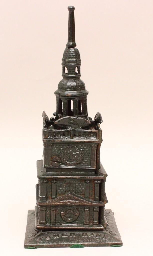Cast Iron Still Bank Tower