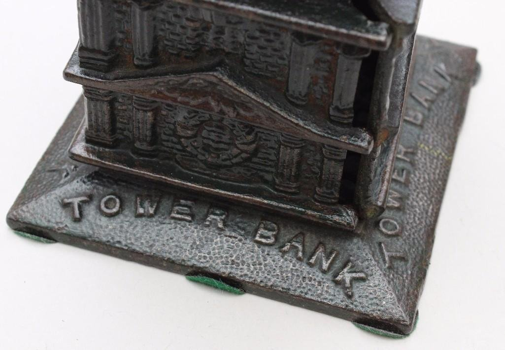 Cast Iron Still Bank Tower - 2