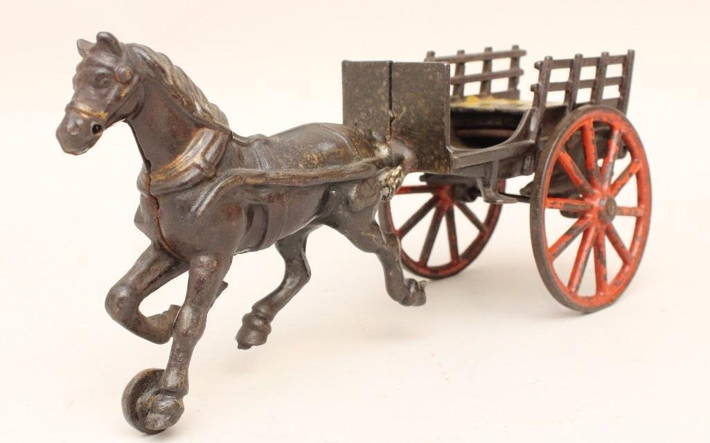 Horse and Hay Wagon Toy