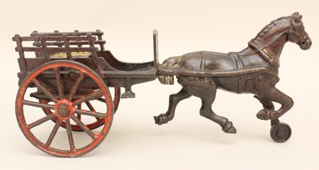 Horse and Hay Wagon Toy - 3