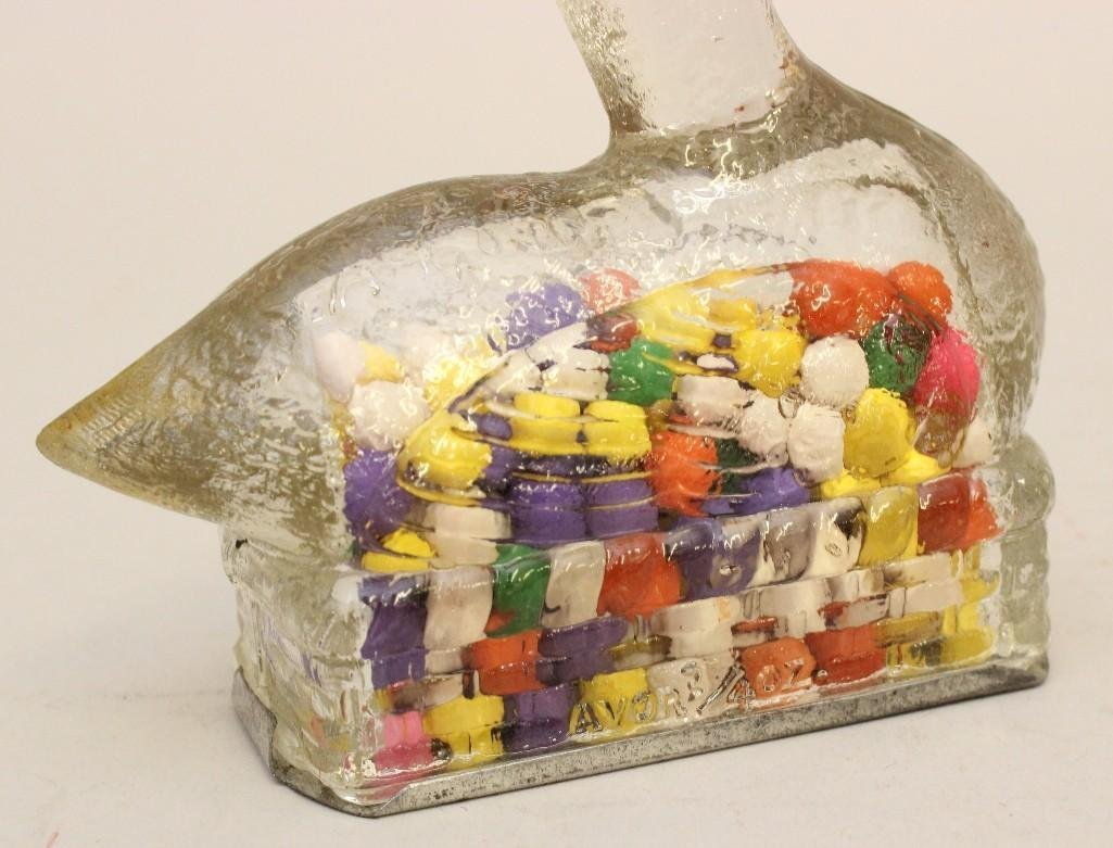 Lot of 3 Glass Candy Containers - 3
