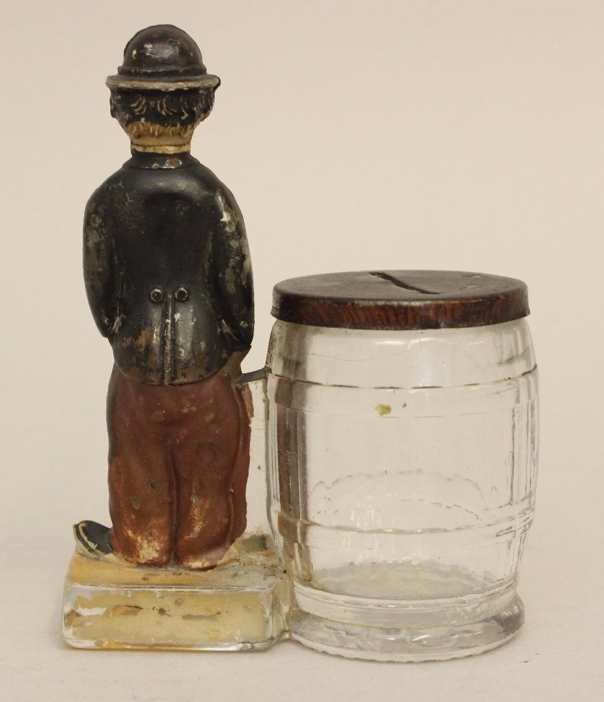 Charlie Chaplin Glass Candy Container - 2